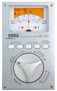 KORG Stimmgerät, Chromatisch, OT-120, silberatic Tuner